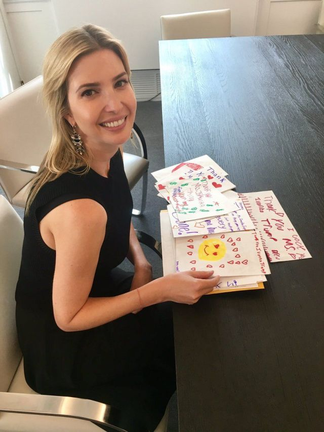 Ivanka Trump Tweets A Picture Of Her Thank You Letters And Twitter Has A Field Day