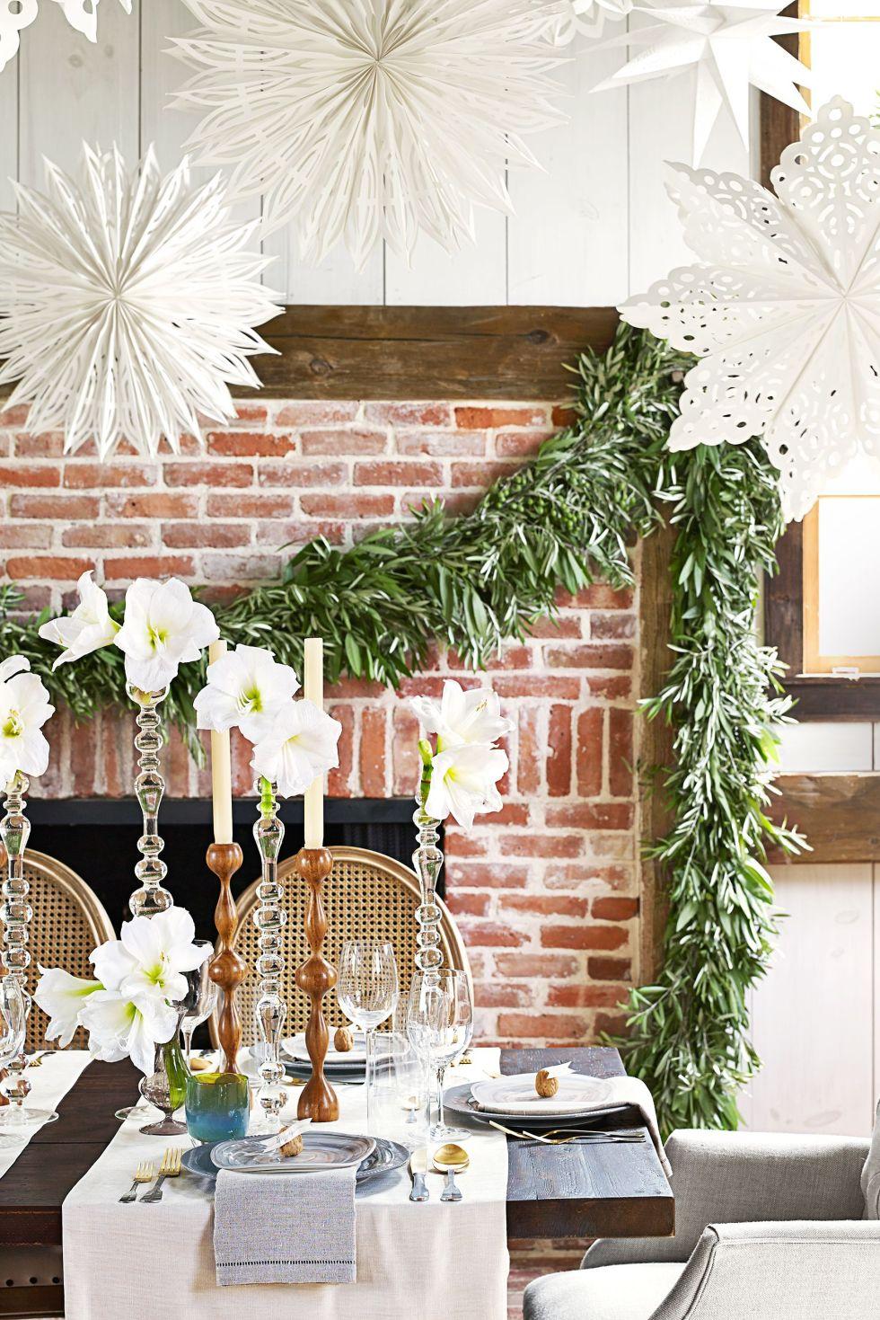 Décoration sde noël, blanc, décoration de Noël, Direction générale, Design d'intérieur, table, prix, brindille, meubles, chaise,