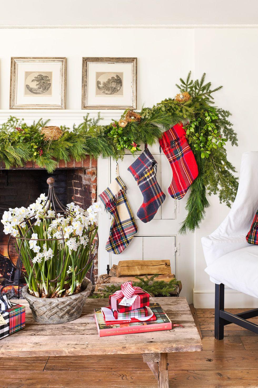 décorations de Noël à carreaux