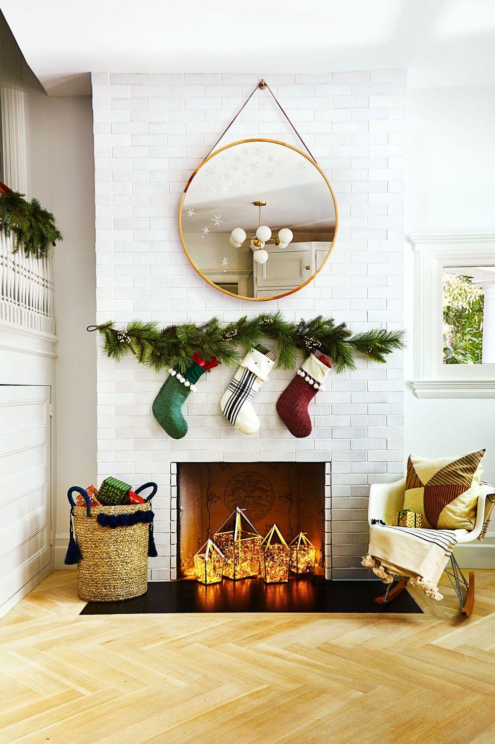 décor de noël vacances bricolage pour cheminée