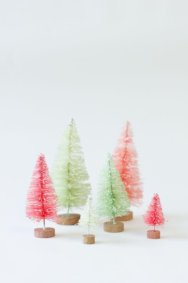 idées de mini sapin décorations de Noël