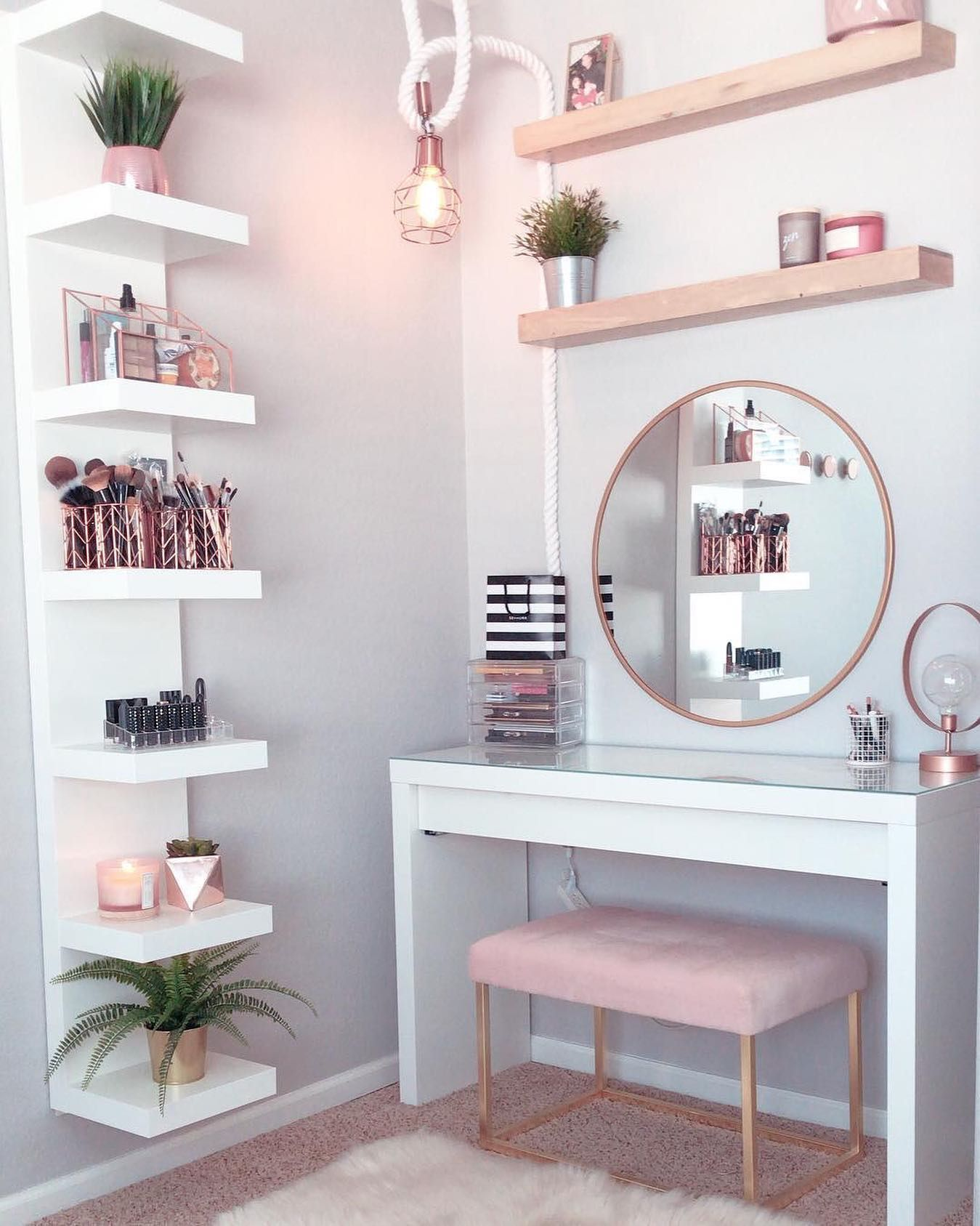 dressing table ideas how to organise