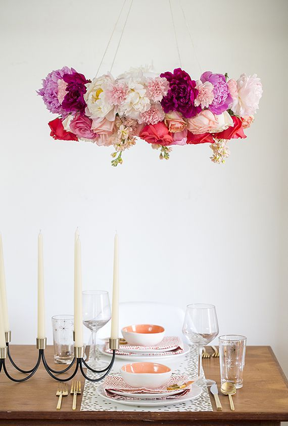 Easter Flowers -  DIY Chandelier Roses Peonies