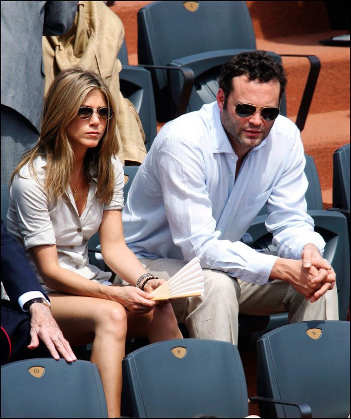 Jennifer Aniston and Vince Vaughn when they were a couple