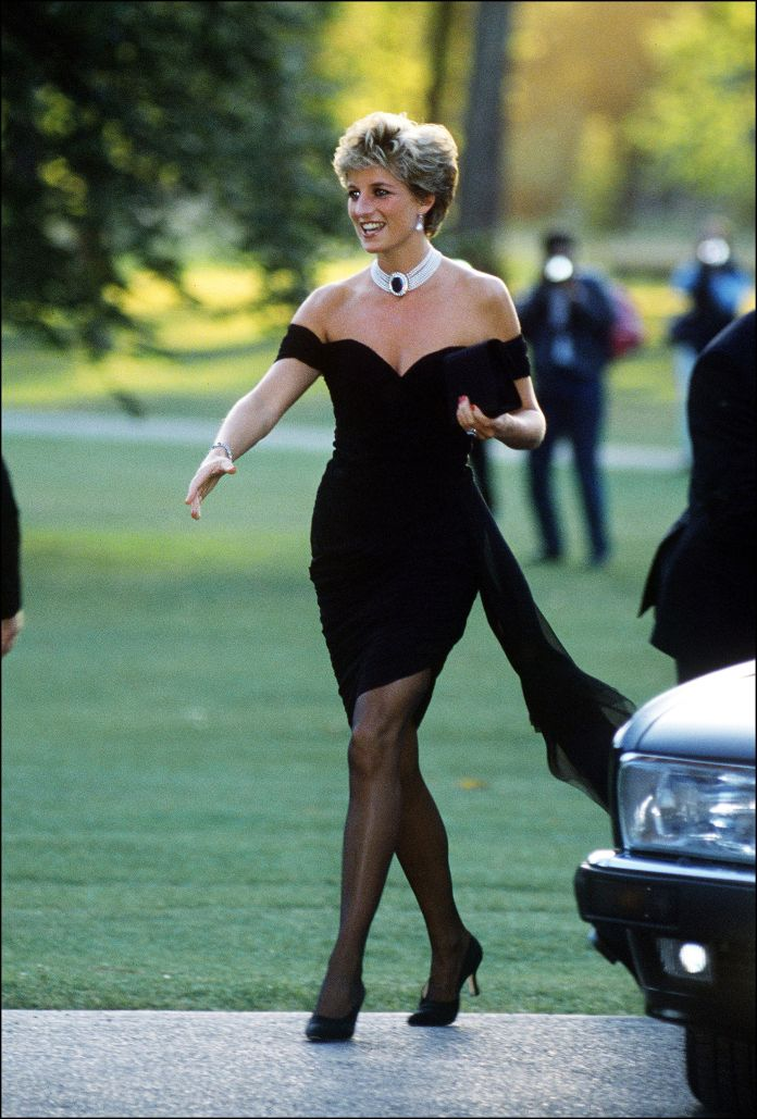 princess diana with the little black dress of vengeance