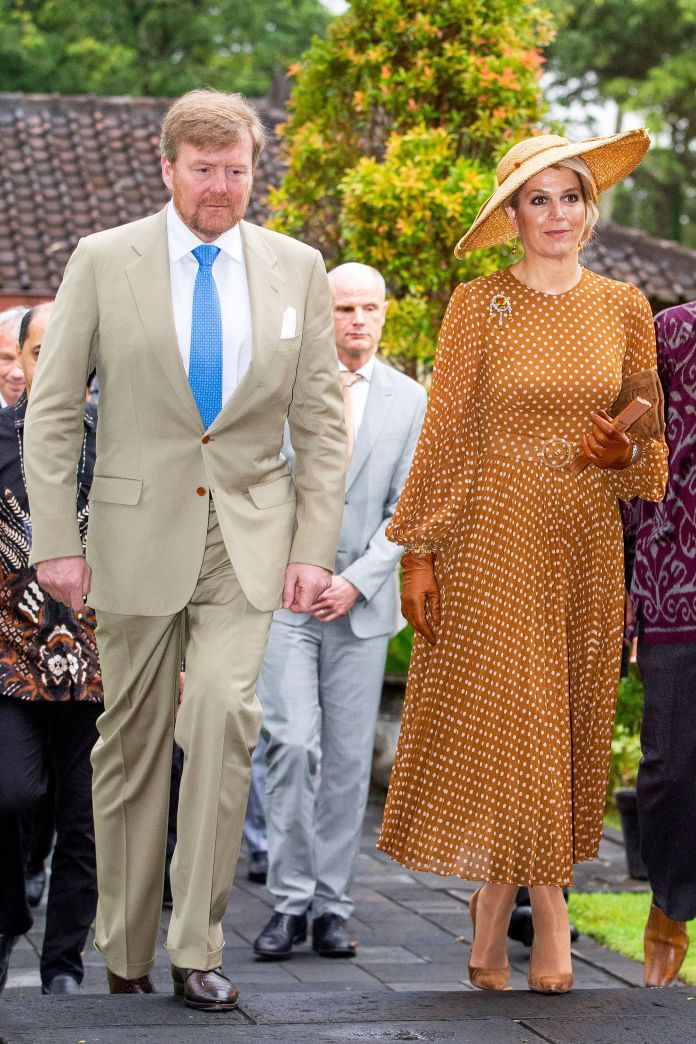 maxima of the netherlands with a polka dot dress like pretty woman