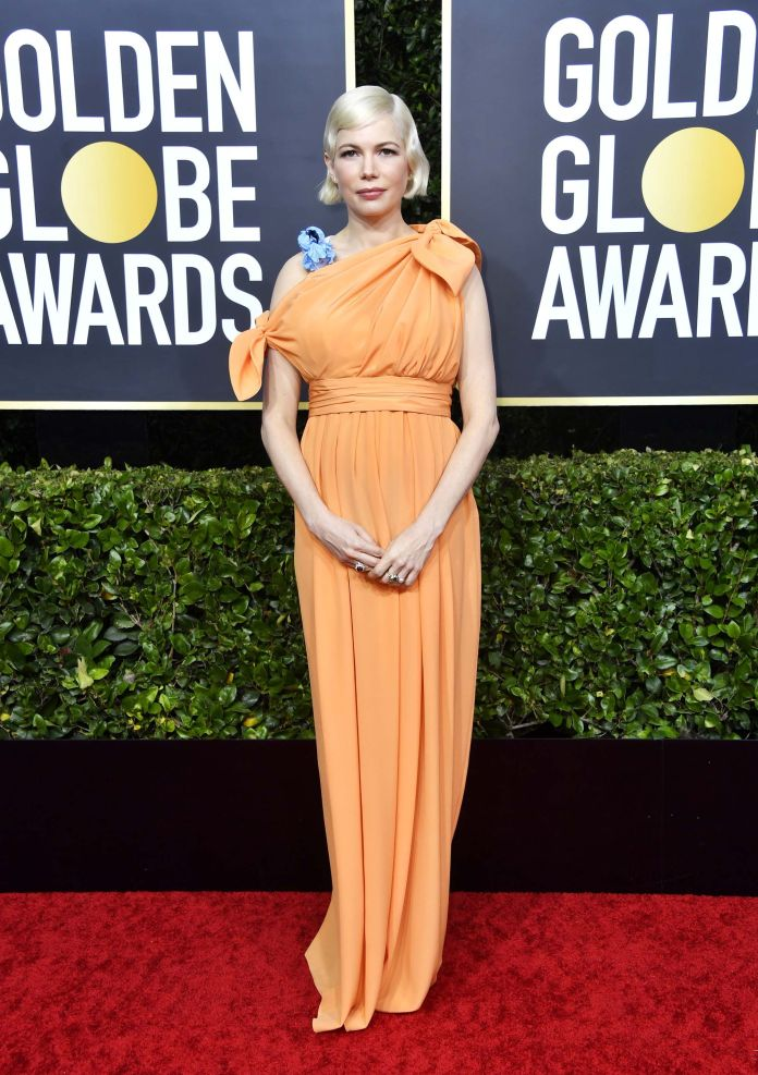 Michelle Williams Globos de Oro 2020 peor vestidas