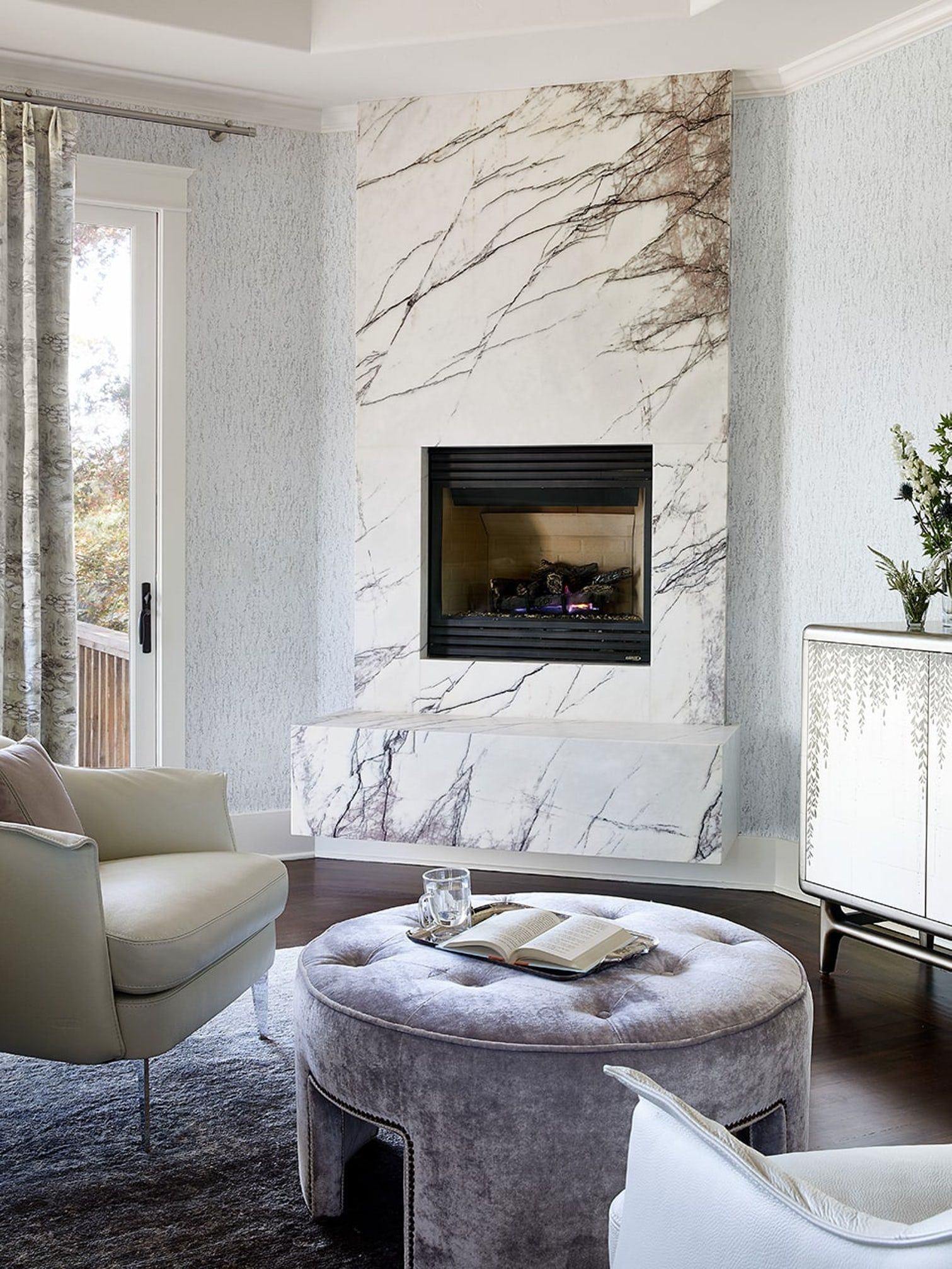 wood fireplace ideas with tv above