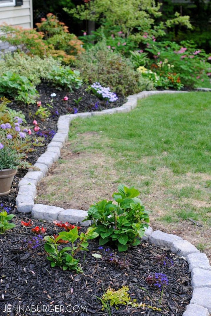 Small Red Stones Landscaping