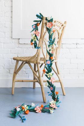 flower garland summer diy craft