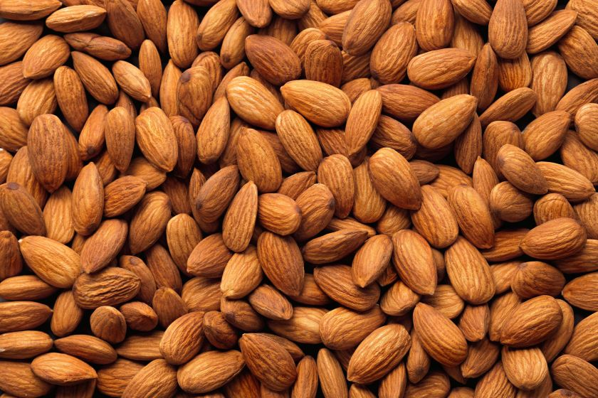 Full Frame Shot Of Raw Almonds
