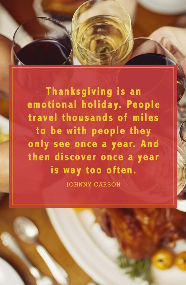 funny thanksgiving quotes johnny carson
