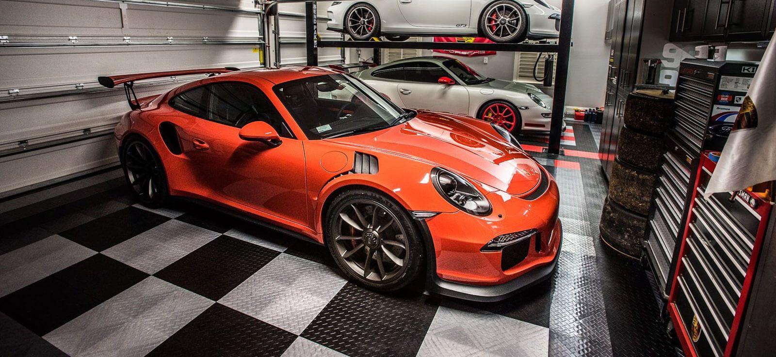 cool epoxy or tile garage flooring