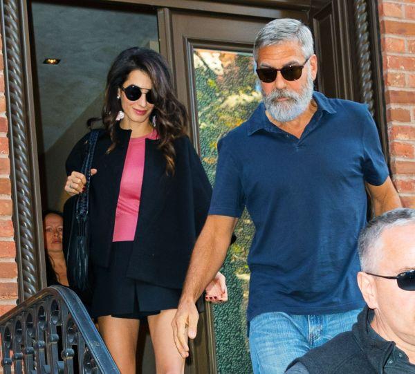 Amal Clooney Stuns In Black Mini-Skirt