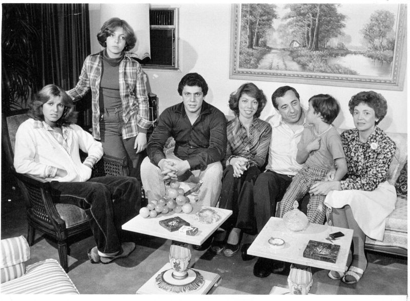 holliswood, ny the cuomo family l r maria, 15, madeline, 12, andrew, 19, margaret, 22, mario cuomo, christopher, 7, and mother matilda at their home on sept 13, 1977 photo by george argeroplosnewsday rm via getty images