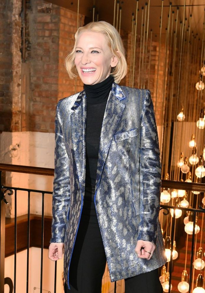 london, england-february 17 cate blanchett attends the uk premiere of true history of the kelly gang at the picturehouse central on february 17, 2020 in london, england photo by david m benettdave benettwireimage