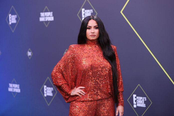 Santa Monica, California November 15, 2020 The People's Choice Awards In this image posted on November 15, demi Lovato arrives at the 2020 E People's Choice Awards held at the Barker Hangar in Santa Monica, California and aired on Sunday November 15, 2020 photo by rich polke entertainmentnbcu stock photos via Getty Images