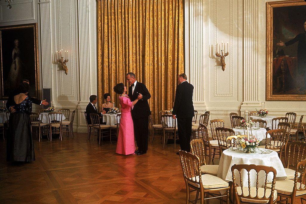 President Johnson Dances With Princess Margaret