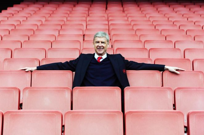 london, england   april 02  arsenal manager arsene wenger after the barclays premier league match between arsenal and watford at emirates stadium on april 2, 2016 in london, england  photo by stuart macfarlanearsenal fc via getty images