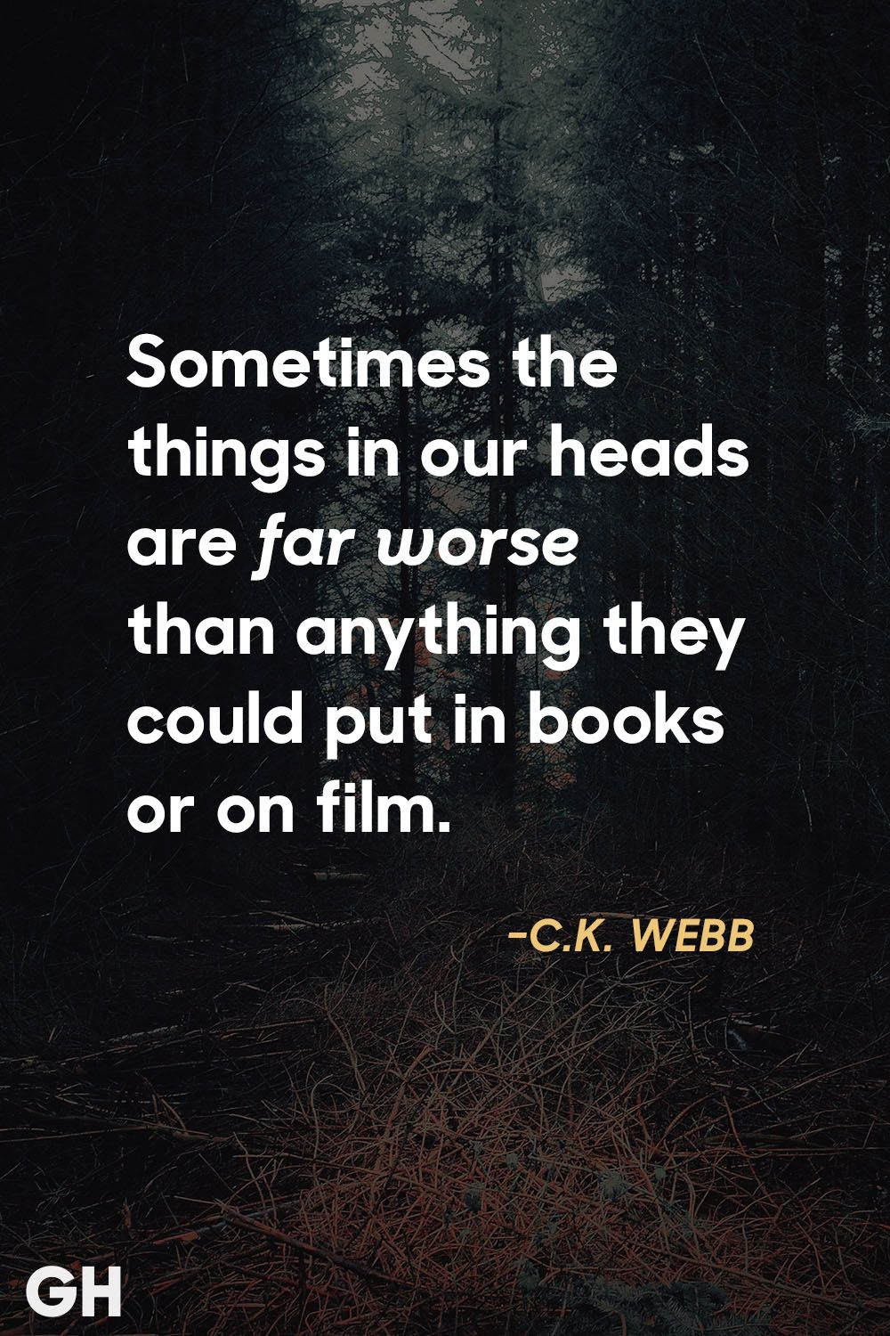 18 Scary Quotes   Creepy Sayings from Movies   Books c k  webb scary quotes