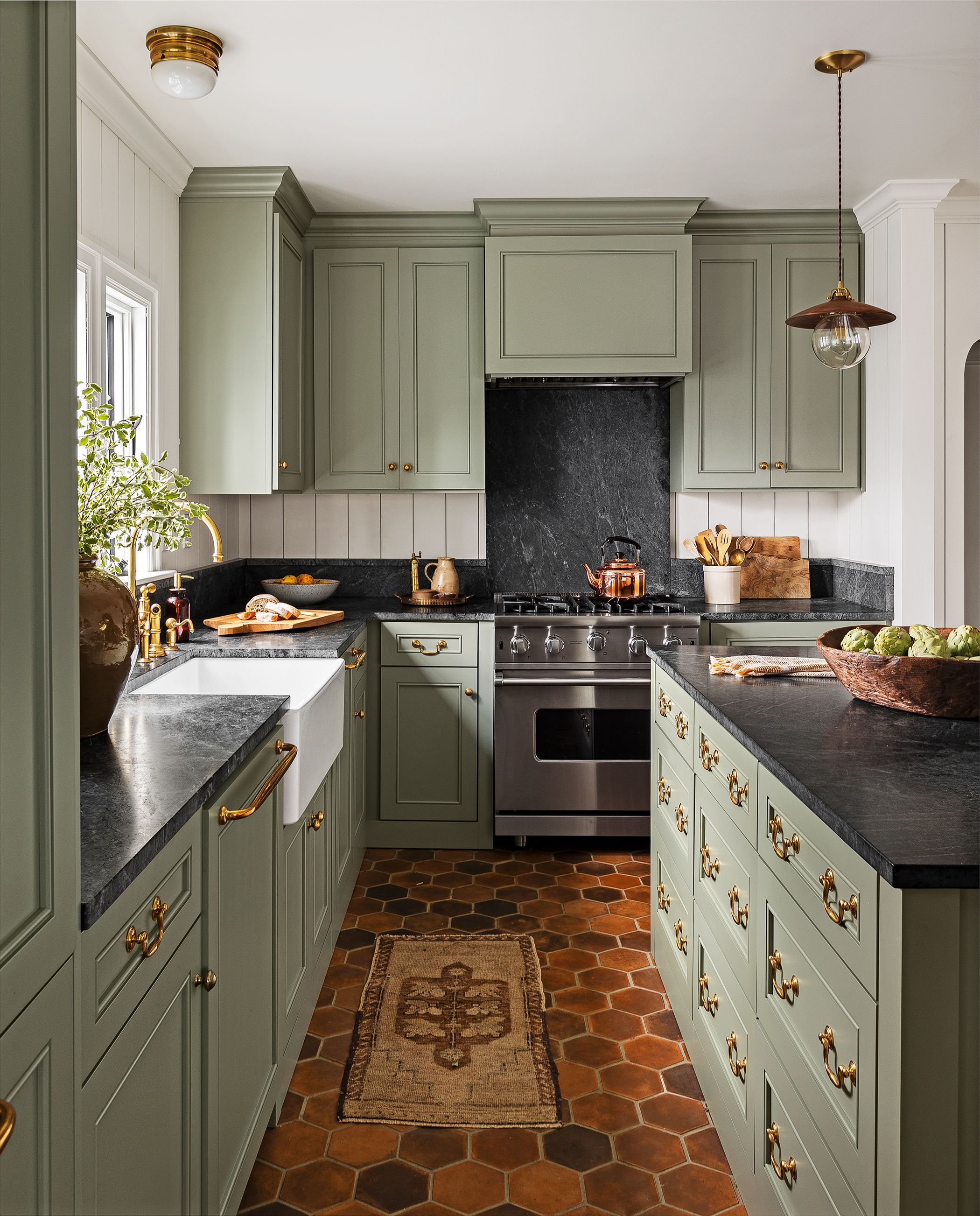 15 Best Green Kitchen Cabinet Ideas Top Green Paint Colors For Kitchens