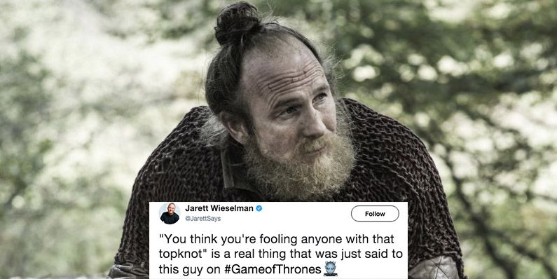 Game Of Thrones Top Knot Joke Game Of Thrones Top Knot Reactions