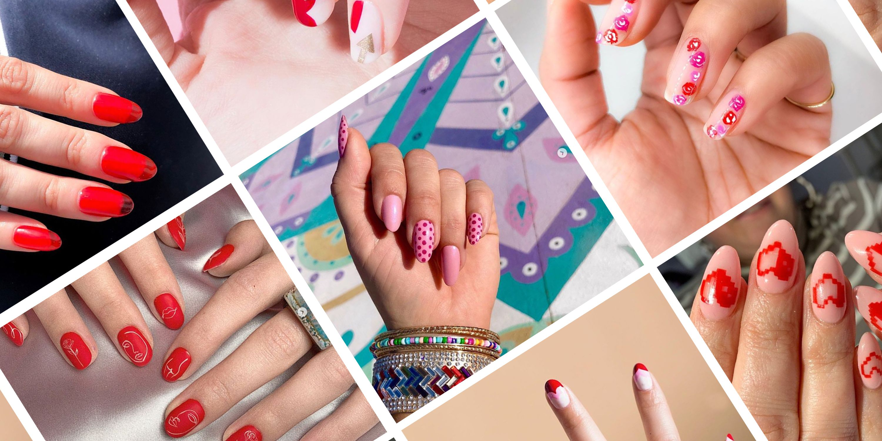 Valentine S Day Nail Art 2020 Cute Manicure Ideas For V Day