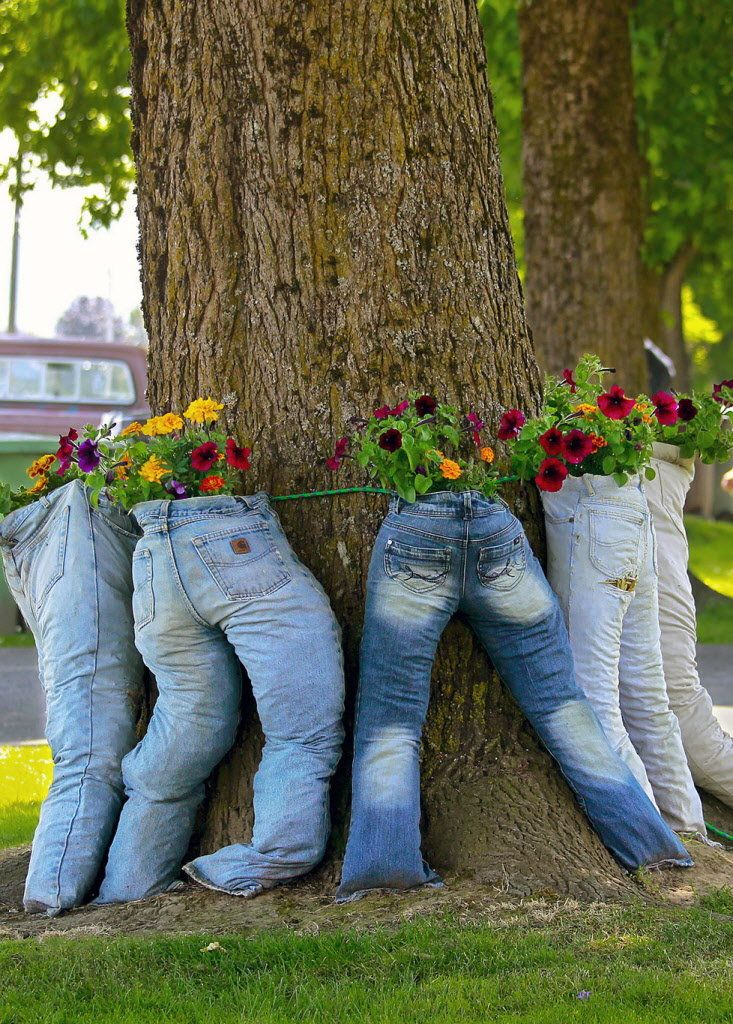 Plants In Pants Is The Brilliant Flower Trend You Never