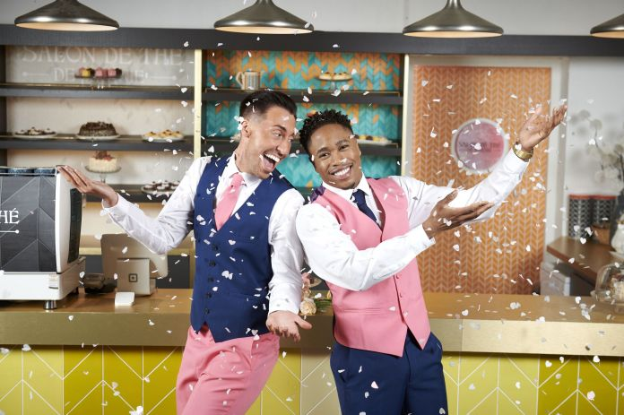 Ross Adams and Imran Adams as Scott Drinkwell and Mitchell Deveraux in Hollyoaks