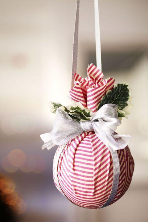 Homemade Kissing Ball Ornament