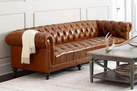 Massoud Davidson Tufted Seat Chesterfield Sofa