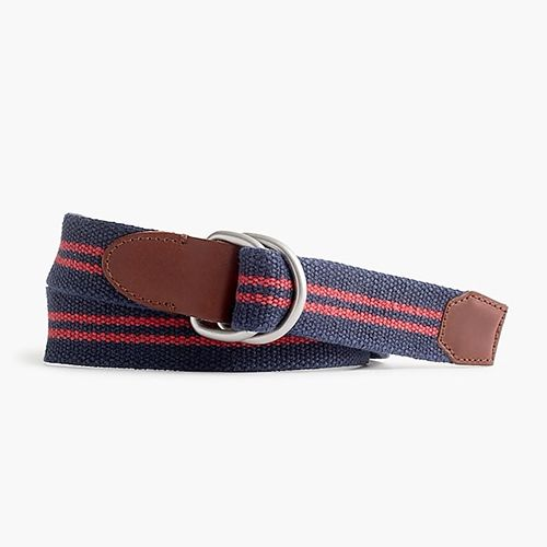 J. Crew Double Stripe Cotton Belt