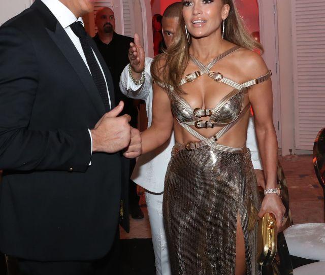 Jennifer Lopez Wears Sexy Gold Dress For Th Birthday