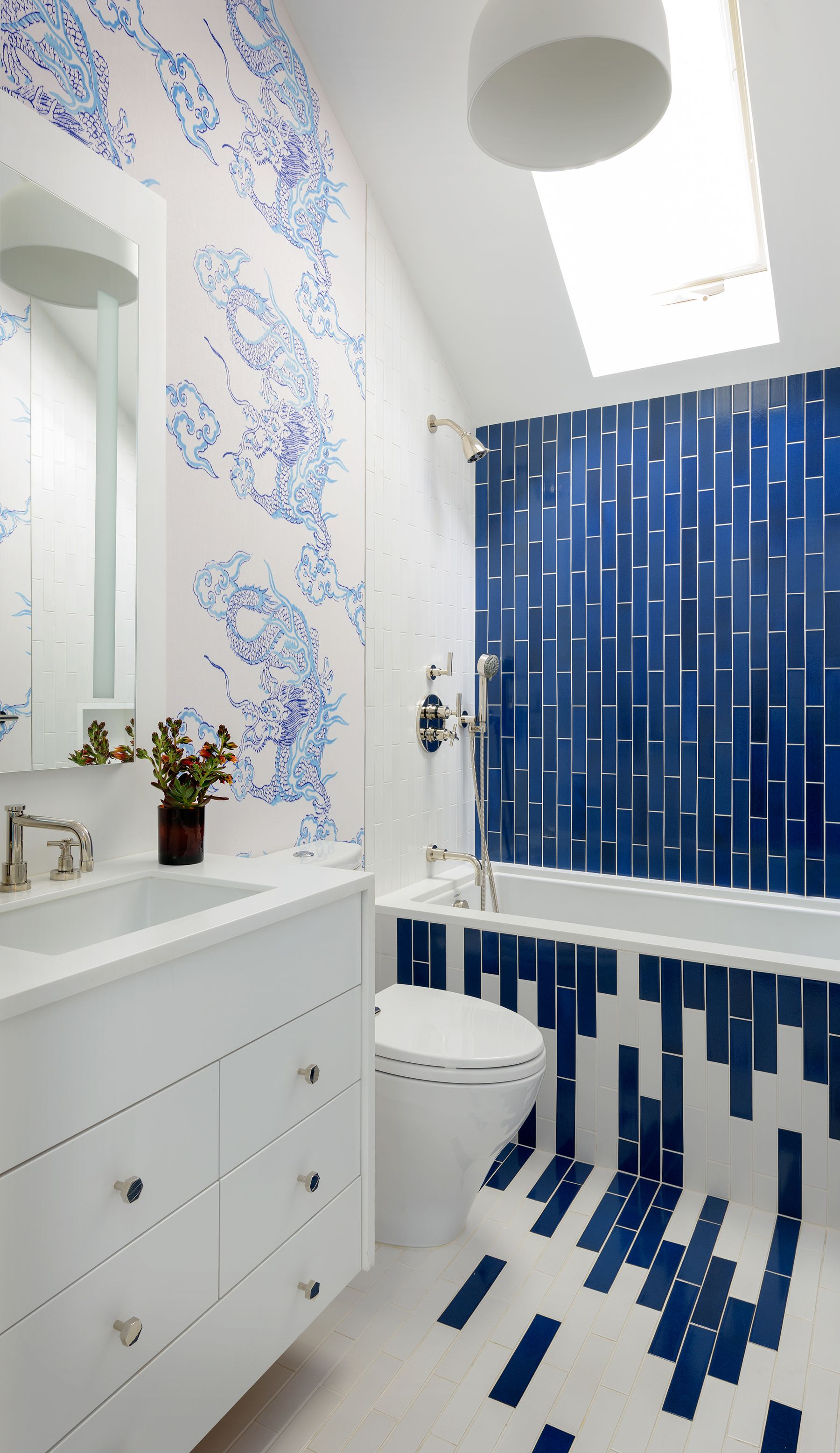 blue and green tiled bathrooms