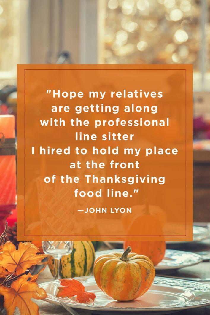 John Lyon Funny Thanksgiving Quotes