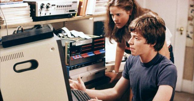 matthew broderick con un ordenador en la pelicula juegos de guerra