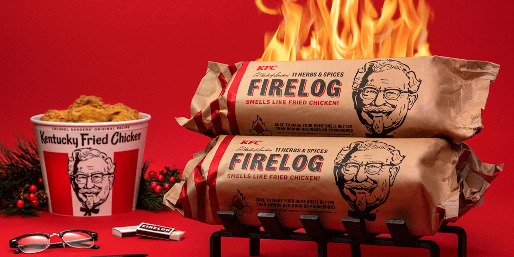 KFC's Fried Hen-Scented Fireplace Log Is Again, So