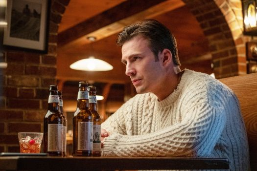 Get Chris Evans' Cream Cable-Knit Sweater From 'Knives Out'
