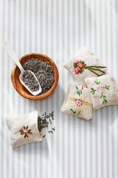 handmade lavender pouches
