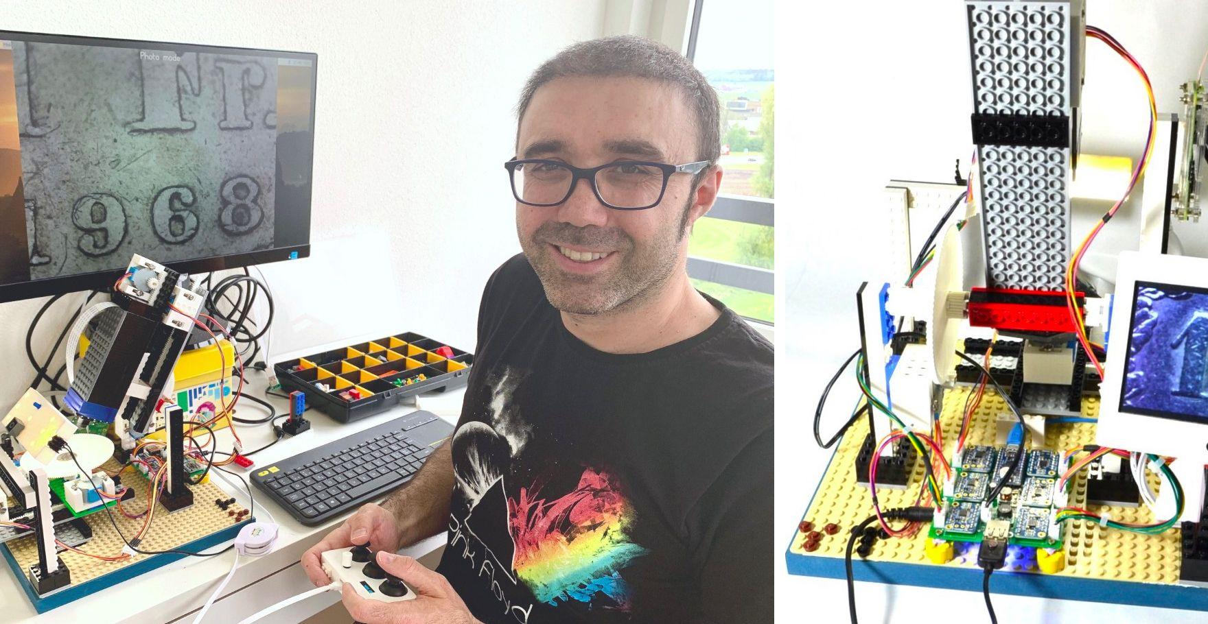sur YT:  Microscope LEGO   Construisez un microscope avec LEGO et Raspberry Pi  infos