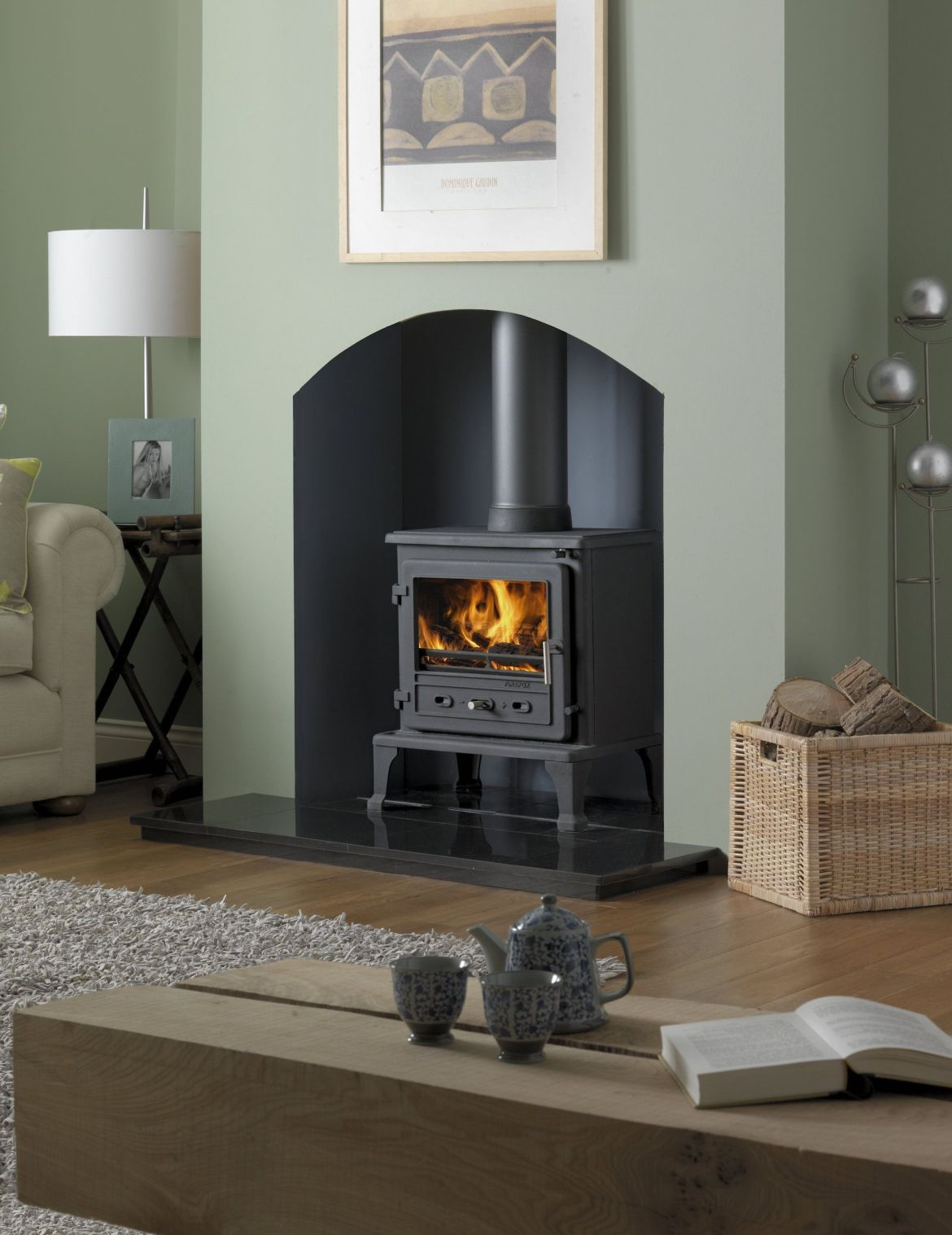 firefox 8 multifuel stove, ludlow stoves ltd
