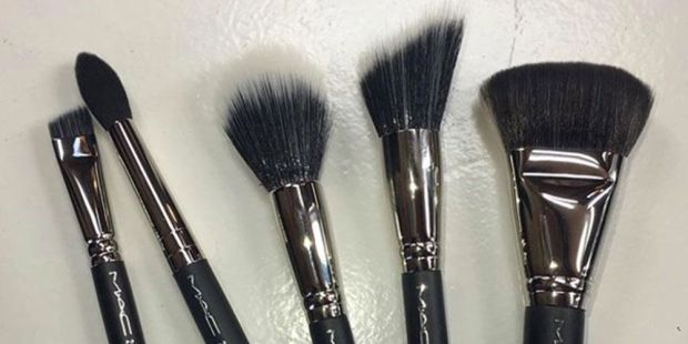 MAC synthetic makeup brushes