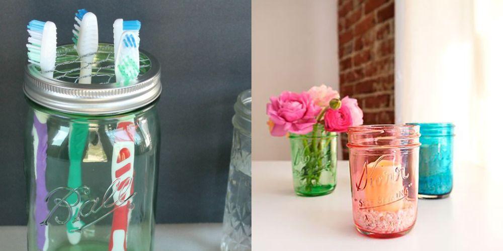 33 Mason Jar Crafts Ways To Use Mason Jars Around The House