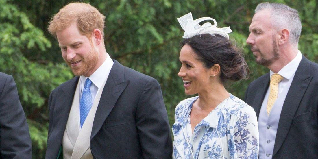 Meghan Markle Just Wore a Flawless Oscar de la Renta Wrap Dress to Princess Diana's Niece's Wedding