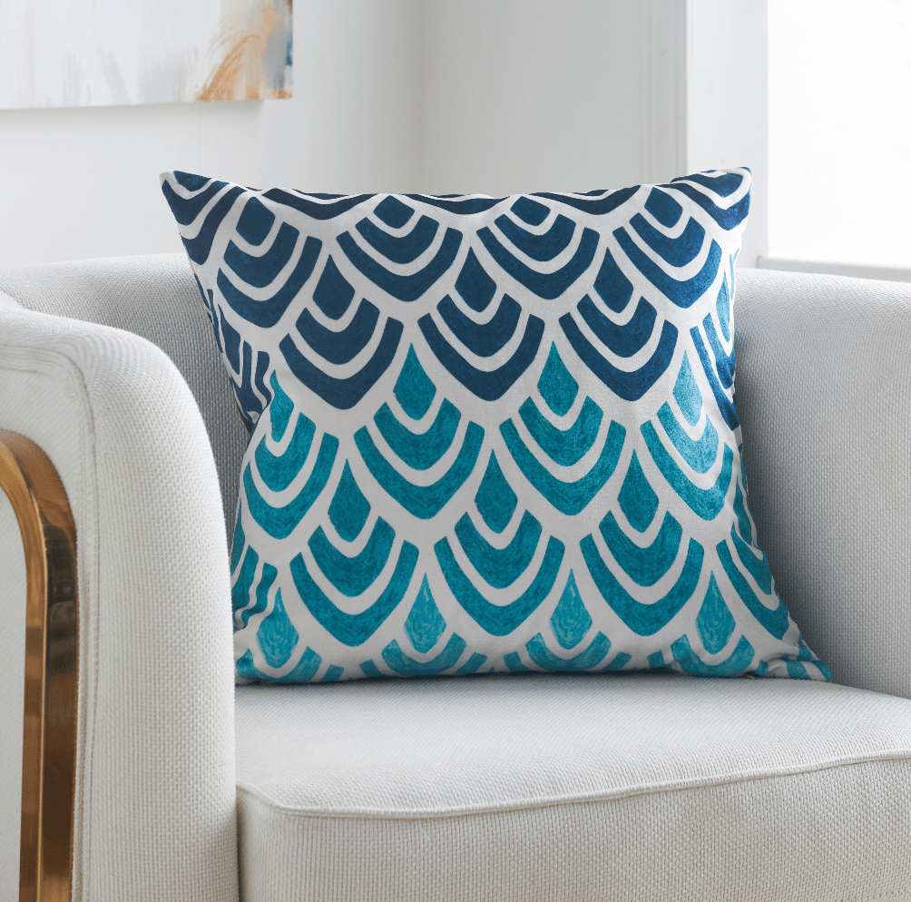 teal and beige throw pillows online