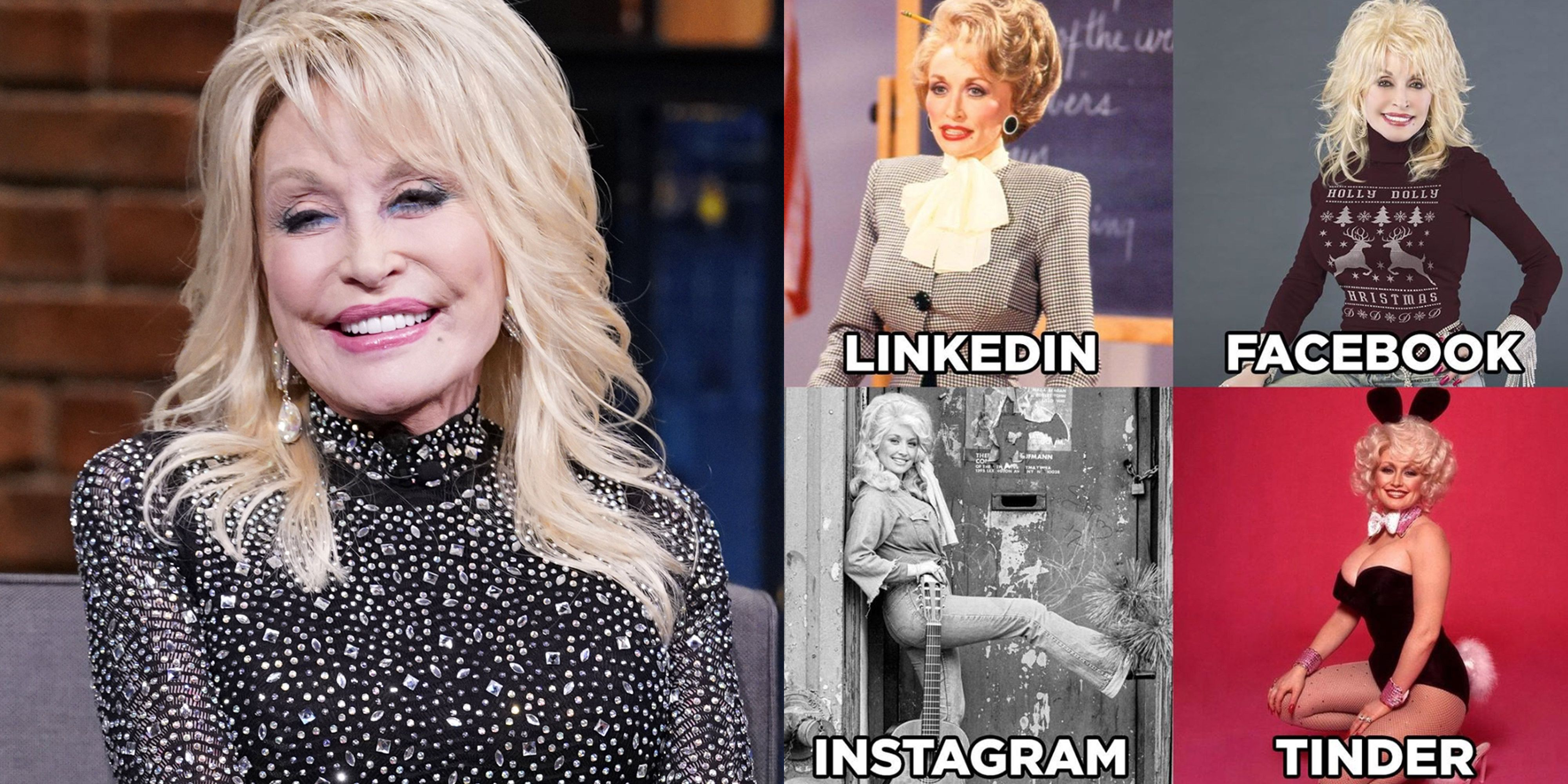 The Linkedin Facebook Instagram Tinder Meme Comes From Dolly