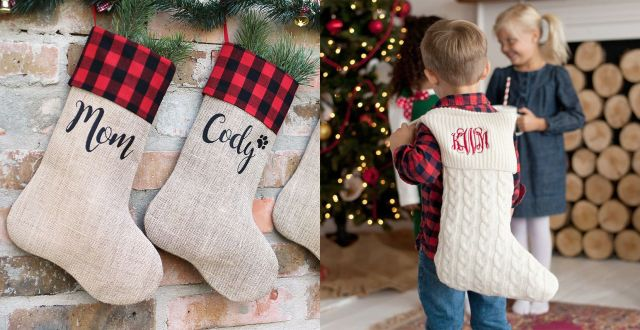 27 Unique Personalized Christmas Stockings - Best Monogrammed