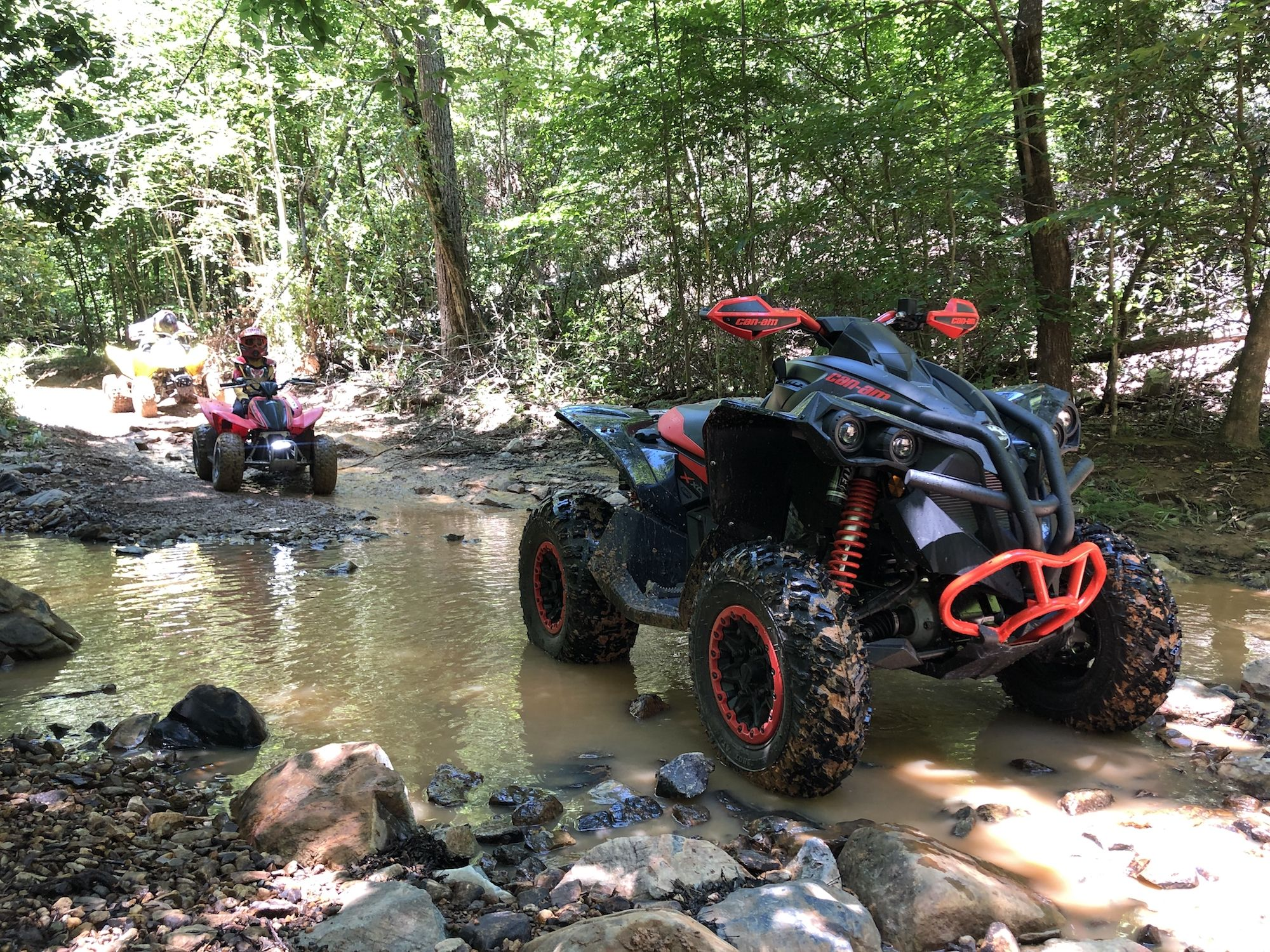 onx and a can am renegade 1000 xc