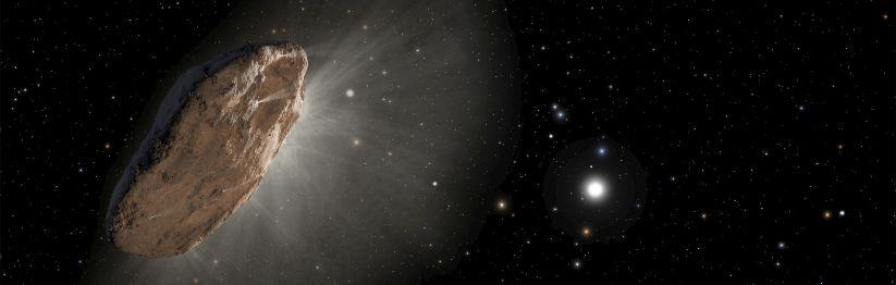 Asteroide roca giratoria