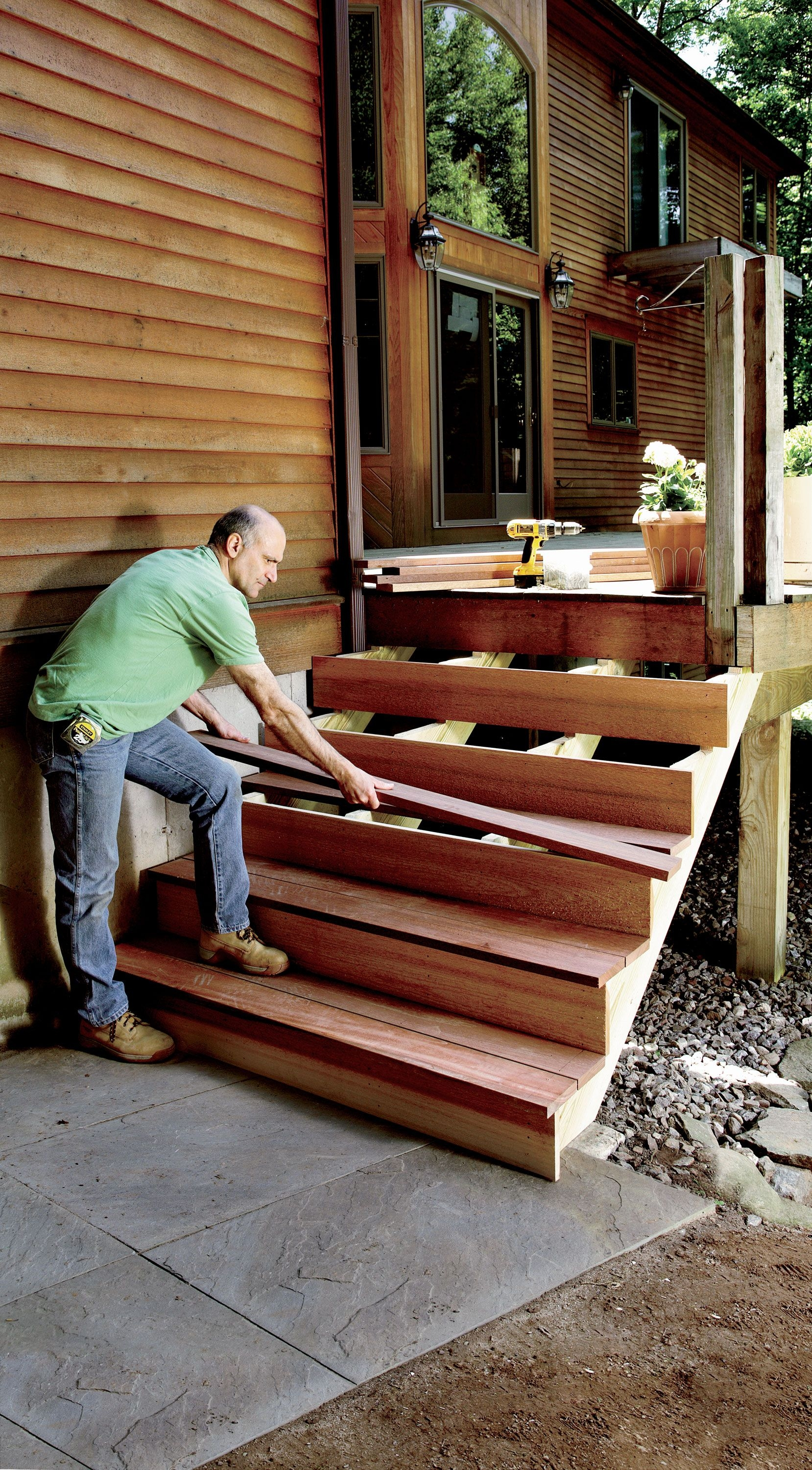 How To Build Stairs Stairs Design Plans | 2 Step Outdoor Stairs | Outdoor | Wooden | Free Standing | Cascading | Multi Colored